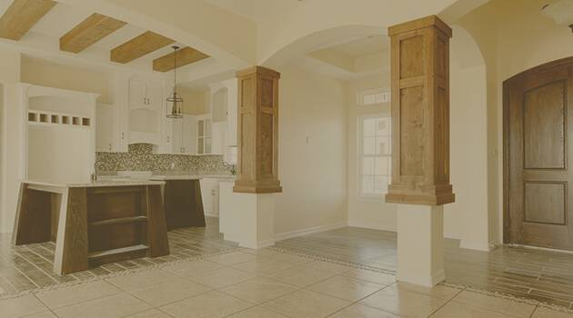 Interior view of rustic residence in Pharr, Tx