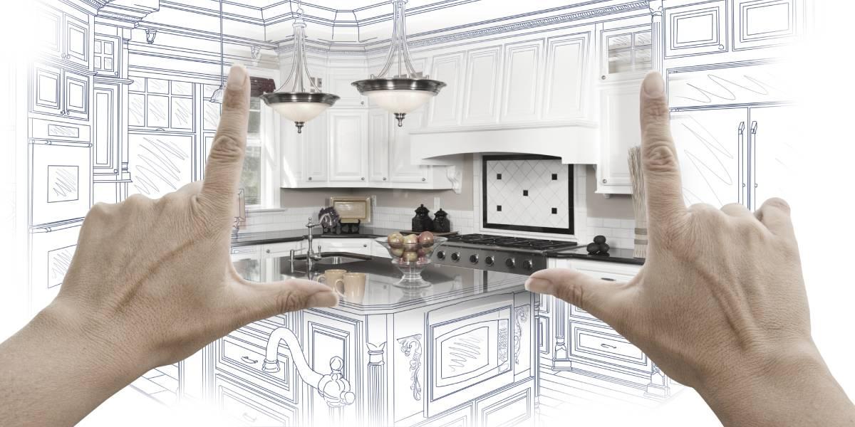 Hands framing kitchen layout design